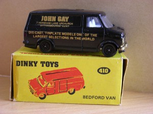 The picture shows Code 1 example of a rare Dinky 410 Bedford Van for John Gay